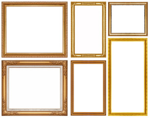 Luxury golden glitter picture frame