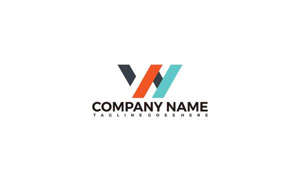 Creative letter WN logo vector illustration template, WN Logo icon.