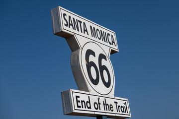 Foto op Plexiglas Route 66 End of route 66 sign post in Santa Monica