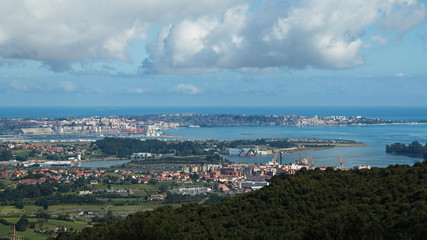 View of Santander from nature park Cabarceno,province Pas-Miera in Spain