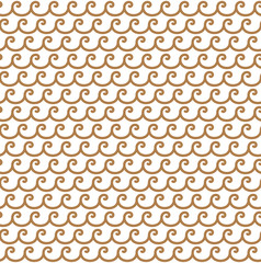 Greek gold waves seamless vector pattern ornament