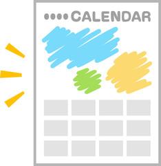 図柄入りの1年分のカレンダー