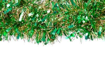 Shimmer shiny green tinsel