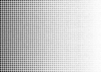Abstract halftone dotted background. Monochrome pattern with dot and circles.  Vector modern futuristic texture for posters, sites, business cards, cover postcards, interior design, labels, stickers. Wall mural