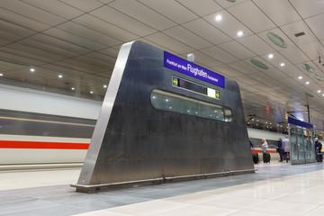 ICE train at Frankfurt airport railway station FRA