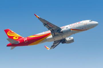 Hongkong Airlines Airbus A320 airplane Hong Kong airport
