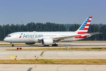 American Airlines Boeing 787-8 Dreamliner airplane Beijing airport