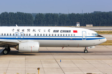 Air China Boeing 737-800 airplane Beijing airport