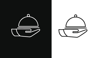 Food and Restaurant icons set vector design black and white