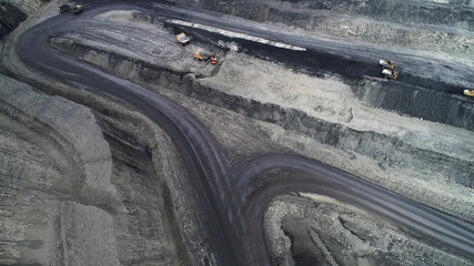 Coal mine, aerial view.