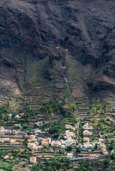 Village in Valle Gran Rey on La Gomera
