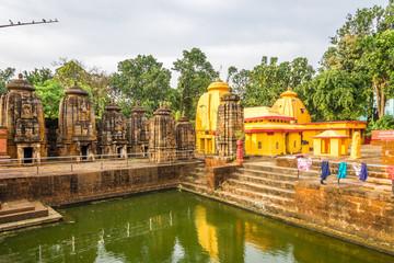 View at the Uttareswara Temple in Bhubaneswar  - Odisha, India