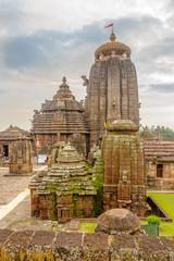 View at the Lingaraja Temple Complex in Bhubaneswar - India, Odisha