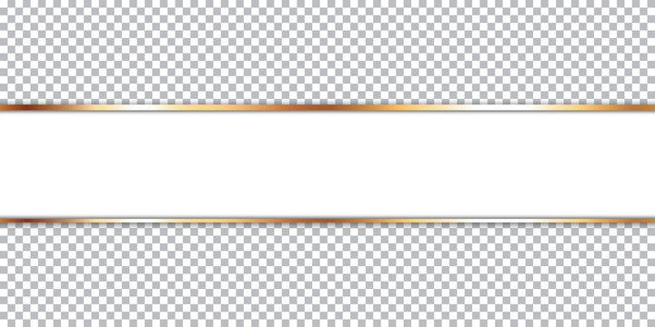 white ribbon banner on transparent background