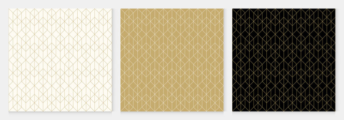 Background pattern seamless geometric line abstract gold luxury color vector. Christmas background.