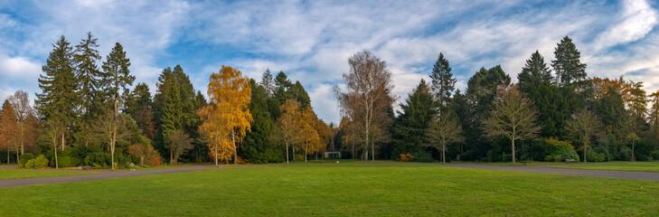 Der Hauptfriedhof von Frankfurt am Main im Herbst