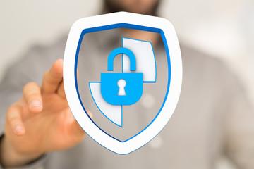 security data code digital in hand