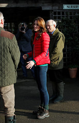 Britain's Catherine, Duchess of Cambridge, visits Peterley Manor Farm in Buckinghamshire