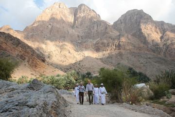 Britain's Prince William is seen during a visit to Wadi al Arbeieen