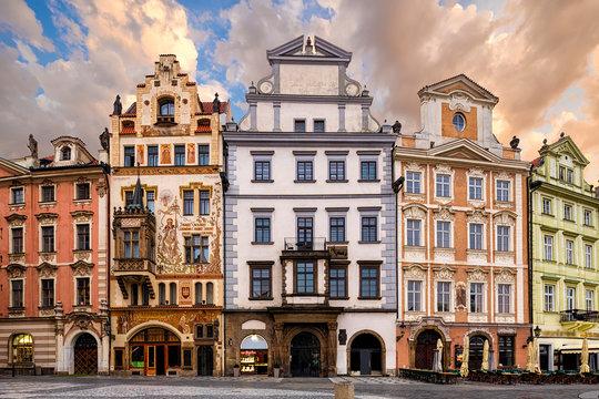 architecture of Prague, Czech republic.