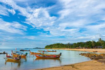 Fischerboote auf Ko Lanta, Thailand