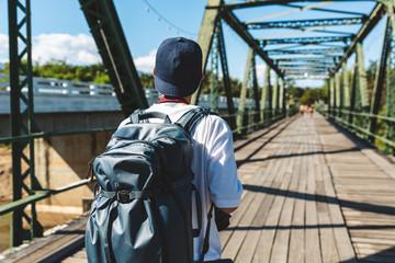 Traveler man with camera
