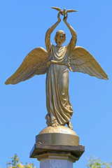 Winged Lady Holding Dove Greece