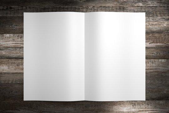 A4/ A5 brochure mockup - 3D rendering