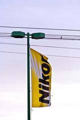 flag on bridge for Photokina event in cologne