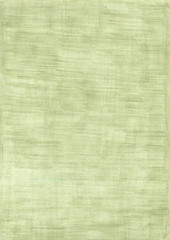 Green rectangle sheet of paper colored with pencil.