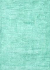 turquoise rectangle sheet of paper colored with pencil.