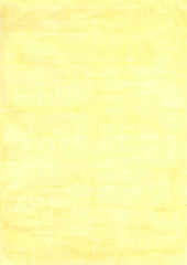 lemony yellow rectangle sheet of paper colored with pencil.