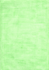 mint green rectangle sheet of paper colored with pencil.