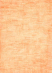 orange rectangle sheet of paper colored with pencil.