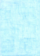 light blue rectangle sheet of paper colored with pencil.