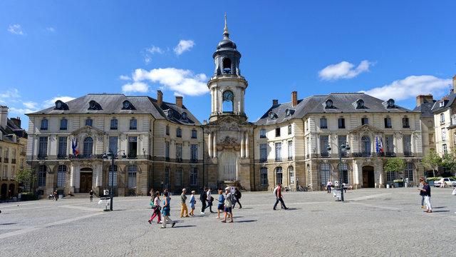 Hôtel de Ville de Rennes, Ile-et-Vilaine, Bretagne, France