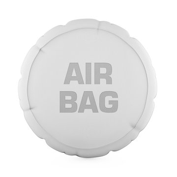 Car Airbag Isolated
