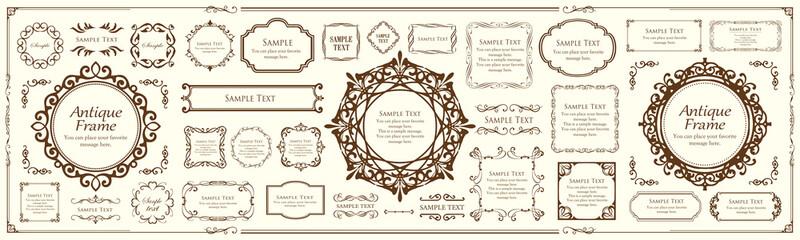 高級感のあるフレームデザイン カードデザイン アンティーク ラグジュリー ビンテージ Fotobehang