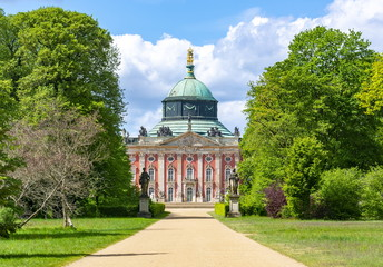 Potsdam, Germany - May 2019: New Palace (Neues Palais) in Sanssouci park