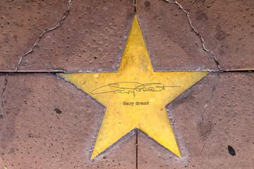 Star of Gary Grant on sidewalk in Phoenix, Arizona.