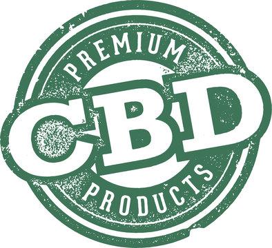 Vintage CBD Hemp Oil Packaging Label