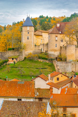 An ancient castle of Chateldon, France