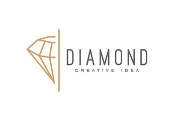 Creative Diamond Logo and Icon Design Template Wall mural