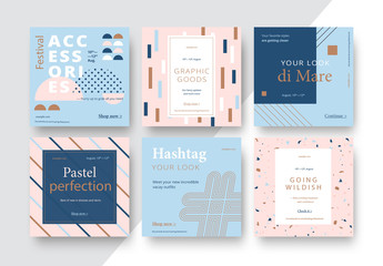 Square Mobile Banner Layout Set