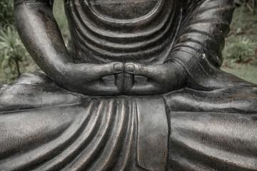 Buddha statue in a garden