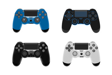 Game controller in vector.Joystick vector illustration.Gamepad for game console.The joystick for the console.