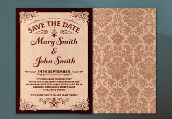 Ornate Wedding Invitation Layout