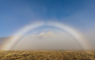 Scenic Fogbow in Autumn in the Tetons