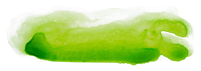 Canvas Prints Hot chili peppers green stain watercolor background on a white background with a texture of dripped paint