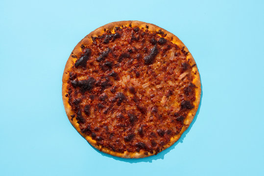 burned barbecue pizza